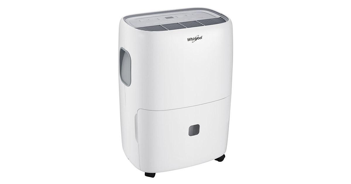 Whirlpool Energy Star 70 Pint Dehumidifier with Built-in Pump White image