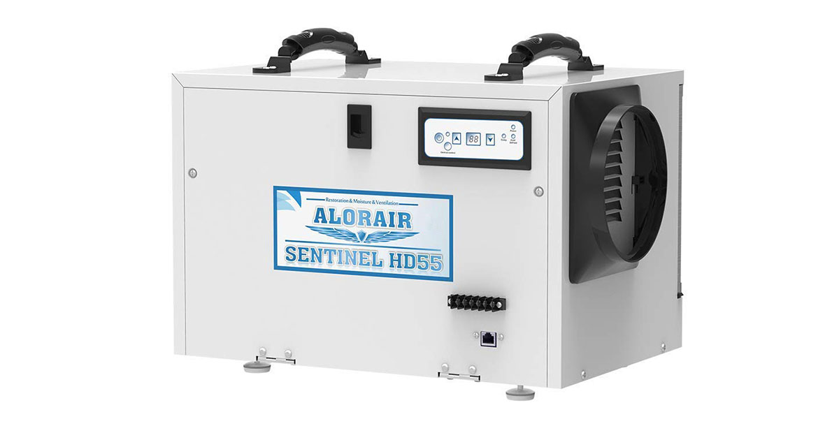 Alor-Air Basement Crawl-space Dehumidifiers Removal 120-PPD Saturation 55-PPD-AHAM image