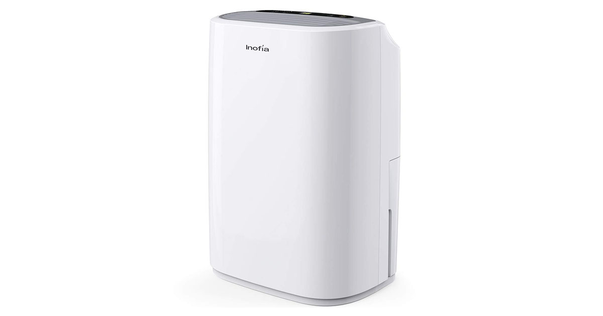 Inofia 30 Pints Dehumidifier Mid-Size Portable For Basements and Large Rooms image