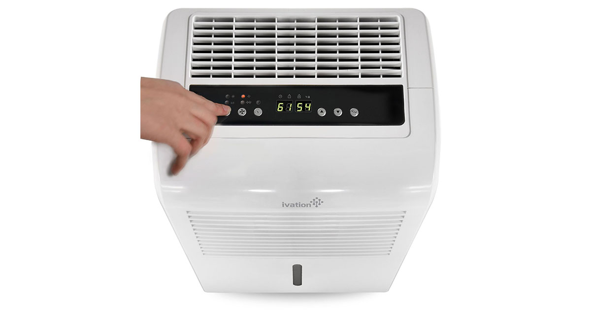 Ivation 70 Pint Energy Star Dehumidifier with Pump Large Capacity Compressor for Spaces Up To 4500 Sq Ft image